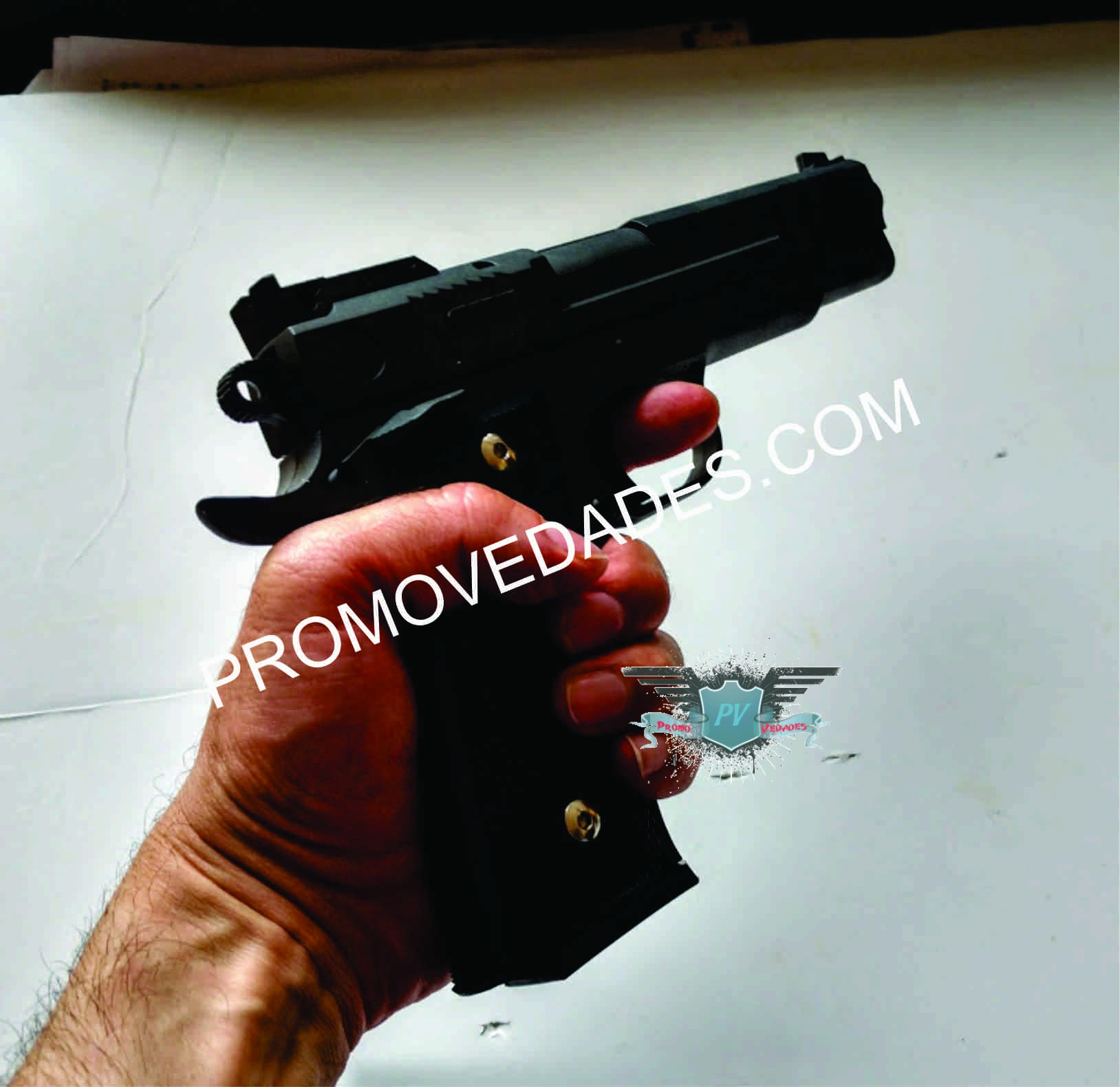 Promovedades | REPLICA DE 45 METALICA FULL mod G20 resorte 6mm